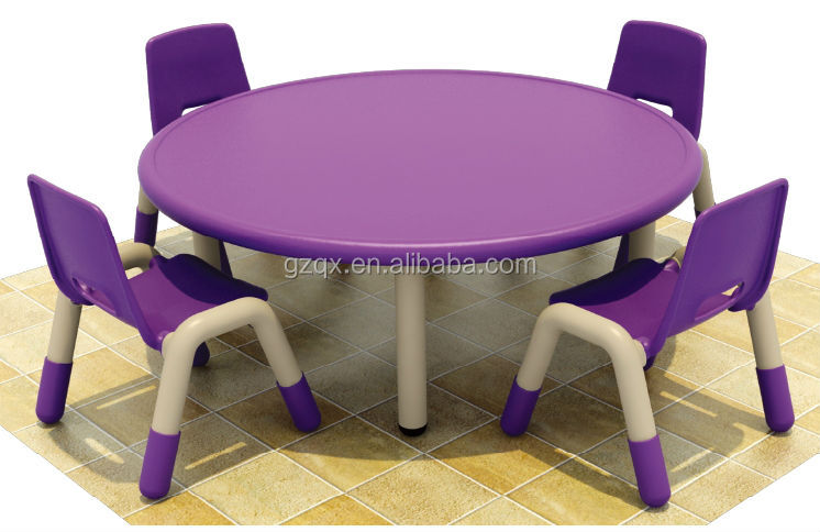 Elegant Purple Color Plastic Chair And Round Table,Kids Homework ...