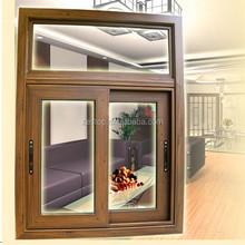 OEM powder coated sliding glass reception window