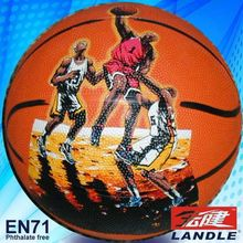 Good quality official size new style rubber pvc synthetic basketball