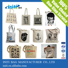 Factory sale recycled shopping canvas bag / canvas nappy bag