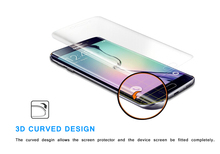 The latest unique 3D Curved edge design Full Cover clear TPU mobile phone Screen Protector For samsung galaxy s6 edge