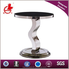 C04- S shape beautiful curved glass coffee table