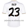 Isco 23 13 14 temporada del real madrid para el hogar tailandia calidad camiseta de fútbol, camiseta del real madrid