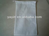 Blank cheap shoe bag/non woven drawstring bag