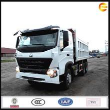 6x4 grava howo camiones de inclinación tilt 300hp camiones