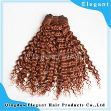 Elegant Virgin brazilian remy human hair deep curl weft brazilian deep curly mixed