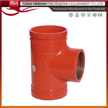 FM Approval Ductile Iron Grooved Fitting of Reducing Tee with Grooved