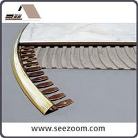 Hot Selling Flexible Aluminum flooring tile trim