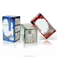 Full Color Printing Clear Plastic Packaging Box PET Folding box