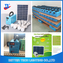 Complete home use system by 20w solar panel dc 12v 12AH battery