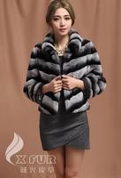 CX-G-A-12 Korean Fashion Rex Rabbit Fur Winter Clothes For Women