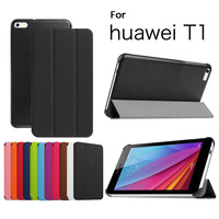 """GENUINE Leather Stand Case For 7"""" Huawei Mediapad T1 7.0 T1-701U Tablet Smart Cover"""