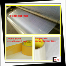 Very strong self adhesive fiberglass filament tape