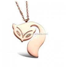 2015 Best Selling Women's Fox Shape Pendant Necklace Alibaba Website Animal Jewelry