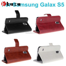 New arrival genuine leather and PC back cover case for SAMSUNG GALAXY S5 I9600