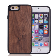 Custom Wood Add Tpu Two In One Cell Phone Case For iPhone 6plus Case