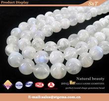 Wholesale MN001-B 8mm AAA grade polishing face natural moonstone 8mm round gemstone beads