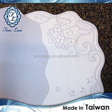 Best Quality Foldable Waterproof Blue Lace Table Mat