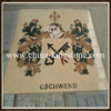 Natural material mixed colours waterjet beige marble patterns