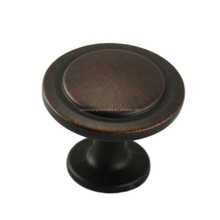 """Oil Rubbed Bronze Cabinet Hardware Handle and Knob - 1-1/4"""" Diameter"""