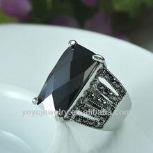 High quality black diamond tungsten ring