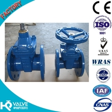 DIN 3352 F4 Resilient Seated non rising stem gate valve
