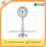 Metal suspension table alarm clock spring dome