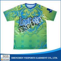Bulk Sale Online 100% Polyester digital sublimation printing T Shirt With Outing Camo Design