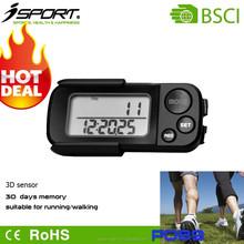 Shenzhen Professional Pedometer Factory Hot Sale 15 Days Memory Convenient Wearing 3D Sensor Pedometer P089
