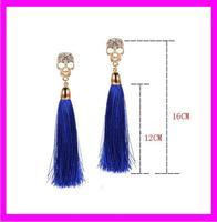 wholesale fashion tassels metal alloy skull earrings