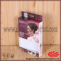 Hot popular window wig packaging box for Ladi