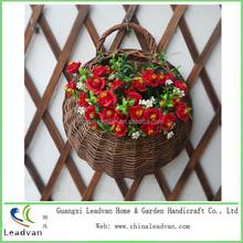 salice tessitura cestini giardino fiorito fioriere cestino appeso a muro
