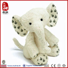 white spotted stuffed elephant manufacture