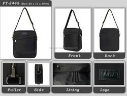 Promotional high quality hot sales 2015 fashion special Messenger men shoulder Bags black polyester