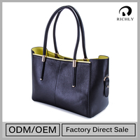 Hot Sell Top Class Low Cost Pattern Leather Handbags