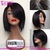 New design straight color #1 bob style human hair wig cheap human hair short bob lace front wig