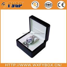 customized wooden pocket watch box insert velvet