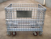 Folding Container Type RH-C-U02,Wheeled Wire Rolling Storage Cage