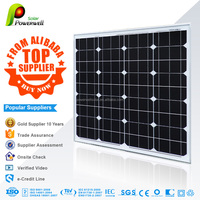 80w Monocrystalline solar module high efficiency fiexible solar panel china price with all certificates