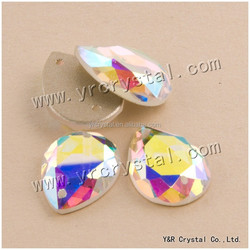 AB color sew on stones glass beads