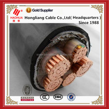 XLPE insulated copper electrical cable in a 4 x 50mm cross-section (N2XY)