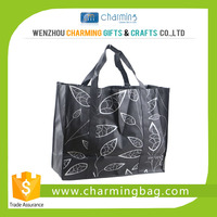 Bopp laminated eco friendly women pp non woven fabric shopping bag