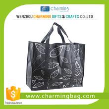 Bopp laminated eco friendly women pp non woven fabric shopping bag