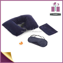 promotional inflatable folding travel rest neck pillow