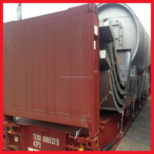 automatic 10 ton diesel pyrolysis Tyre Recycling Plant in india welling running