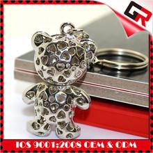 Custom design fashion style jaguar 3d metal keychain