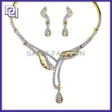 Charm Invisible Setting Gold Plated Fine Jewelry Sets