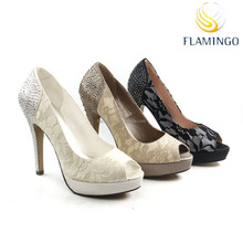 FLAMINGO 2015 LATEST ODM OEM latest design lace wedding evening party sexy high heel women shoes