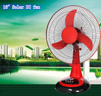 Good price for DC 12V table rechargeable fan use solar or battery or Adapter