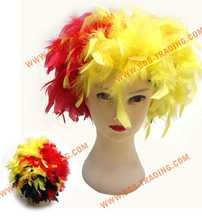 2015 football fans wig/color wig/afro wig hairbands bow